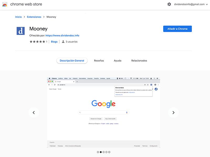 Instalación de mooney