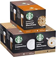 STARBUCKS By Nescafe Dolce Gusto Variety Pack White Cup Coffee Pods